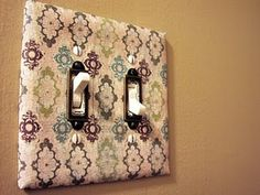 Cute way to dress up the switch plate covers!