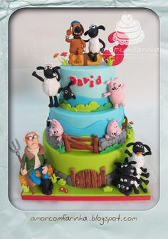 Shaun the sheep - by AmorcomFarinha @ CakesDecor.com - cake decorating website