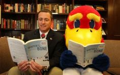Kevin Corbett, President of the KU Alumni Association, and his good buddy Jay are reading Winter's Bone. Are you?