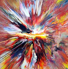 Abstract Spin Painting 23, approx 76x76cm in size, acrylic on canvas. #abstract