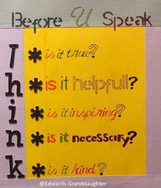Before U Speak