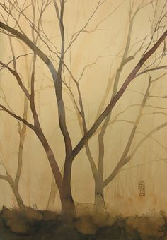 forests, artists, color palettes, saatchi onlin, colors, onlin artist, trees, paintings, alessandro andreuccetti