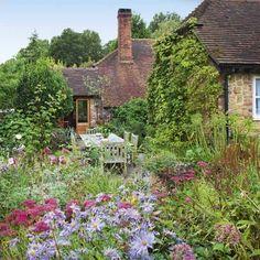 Country garden and patio.