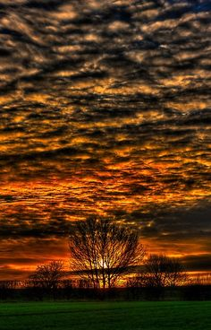Sunset over Willow Amazing World