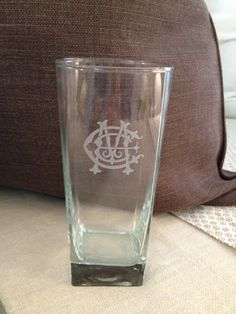 Monogrammed glassware from No. Four Eleven