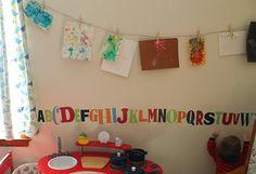 great idea to display kid art