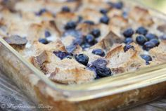 Clean Eating Blueberry French Toast Casserole