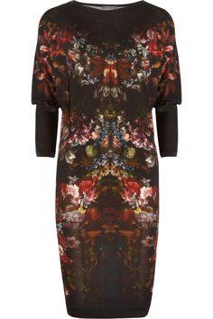 Alexander McQueen|Floral-print wool dress|NET-A-PORTER.COM