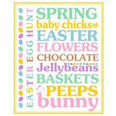 Easter Subway Art Printable by Printabelle