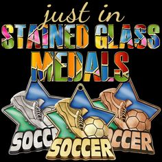 Check Out Our Beautiful #StainedGlass Medals. These New Medals are the Perfect Soccer Awards for You and Your Soccer Team! #SoccerAwards #SoccerMedals #StainedGlassMedal  https://www.crownawards.com/StoreFront/CM64SORG.ALL.Medals-Dogtags.2_1-4%22_Stained_Glass_Medals.prod