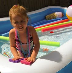 Learning fun with pool noodles.