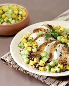 Jerk-Light Chicken with Pineapple Salsa