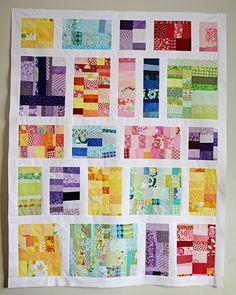 baby outfits, scrappi quilt, quilt design, colors, quilt inspir, colorful quilts, block, scrappi design, scrap quilt
