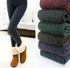 I want! Too bad they ship from china!   Fleece lined leggings-$16