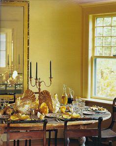 thanksgiving table, Martha Stewart - In the Studio