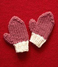 Knit Valentine's Day  Mittens