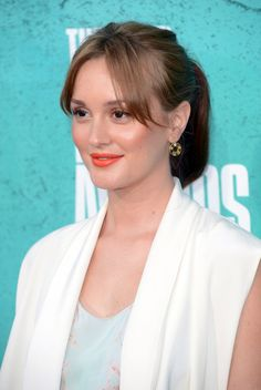Leighton Meester Loose Ponytail