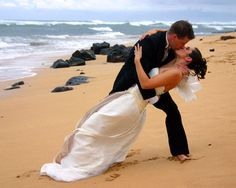 wedding picture on the beach