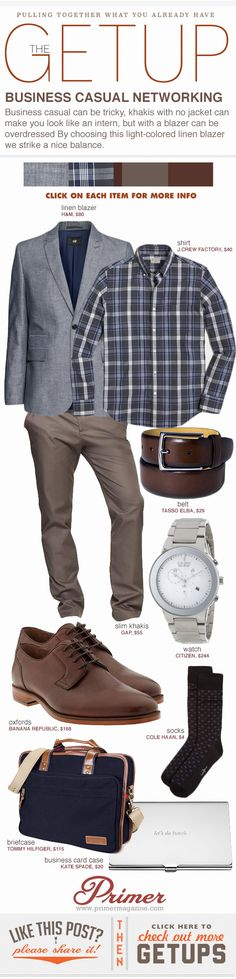 The Getup: Business Casual Networking #business #casual #menstyle #menswear