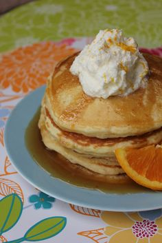 Orange Maple Pancakes--great recipe for your holiday breakfasts upcoming!  Deals to Meals
