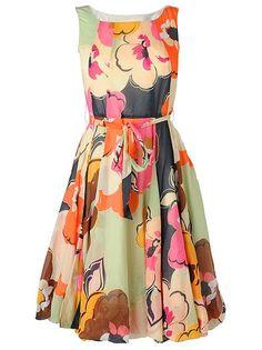 fashion, garden parti, print dress, cloth, fifti style, prints, miami print, fifties style, floral dresses
