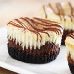 Mini Cappuccino-Hazelnut Cheesecakes