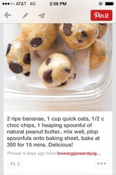 Yummy easy way to have a healthy snack!