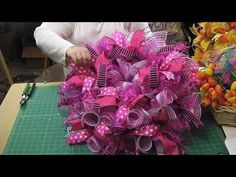 Add Ribbon Streamers to Deco Mesh Wreaths