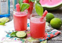 Gin Cocktail ~ Watermelon Basil Bramble via ASpicyPerspective.com