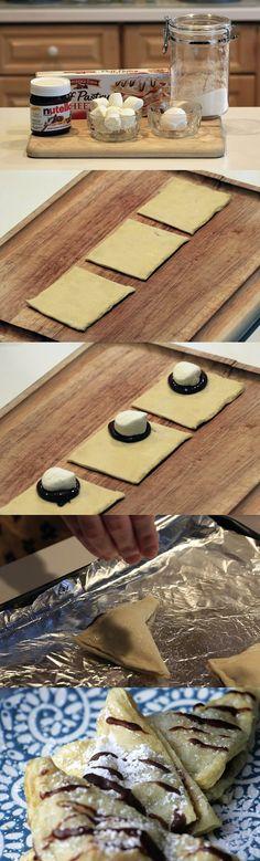 5-Minute Nutella Turnover