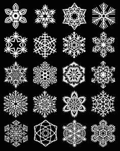 Cutting guide to make these snowflakes.