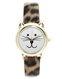 ASOS Leopard Cat Ears Watch