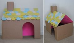 A cute little cardboard home for a wee inhabitant.