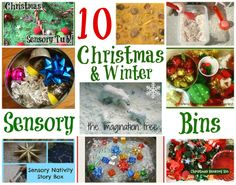 The Imagination Tree: 10 Sensory Bins for Christmas and Winter [It's Playtime!]