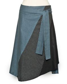 great wrap skirt--- The Other Way - Marine