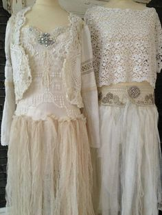 Vintage shabby chic dresses / gowns.