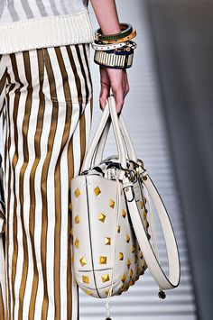 gold stripes and gold studs (Fendi s/s 2012)