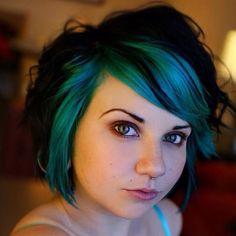 turquoise hair love.