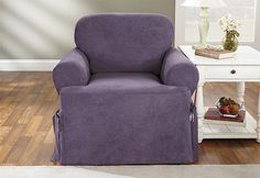Sure Fit Slipcovers Soft Suede One Piece T-Cushion - Chair T-cushion