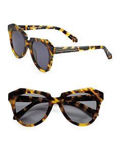 Number One Tortoise Acetate Cat's-Eye Sunglasses by: Karen Walker