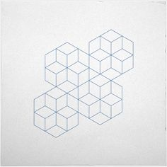 geometrydaily:  #339 Cubic dance – A new minimal geometric composition each day