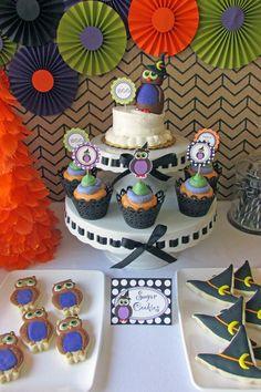 Owl Themed Halloween Party with Lots of Cute Ideas via Kara's Party Ideas | KarasPartyIdeas #Halloween #Party #Ideas #Supplies (5)