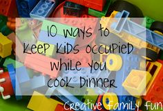10 Ways to Keep Kids Occupied While You Cook Dinner cook dinner, chips, books, kid occupi, famili, churches, cooking, game, blog