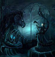 gothic beauti, gothic beauty, dragon, alexandra semushina, fantasi art, dark fantasy, dark angels, the beast, art pictures