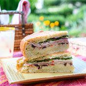 Italian Muffuletta Recipe sandwich