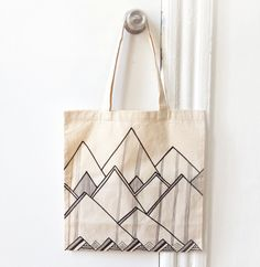 brika cool mountains tote by hello sleep whale.