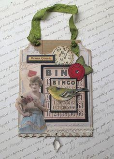 Bingo Vintage Inspired Wall Hanging