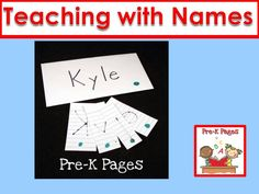 Ideas and activities for using student names to teach letters in preschool, pre-k, and kindergarten.