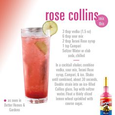 Rose Collins // Made with Torani Rose Syrup