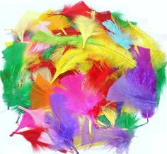 Rainbow Creations Small Mixed Craft Feathers - Easter craft supplies for kids